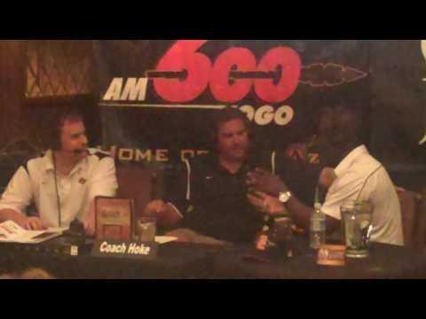 Marshall Faulk at Coach Hoke Show at Claim Jumper in La Mesa