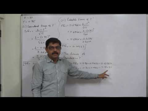 Linear Correlation 29 Calculation of Standard Error - Probable Error - Limits etc