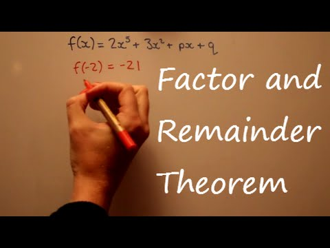 Factor And Remainder Theorem AS Maths