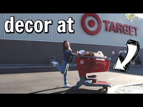 Shop with me decor shopping at target  new apartment in LA