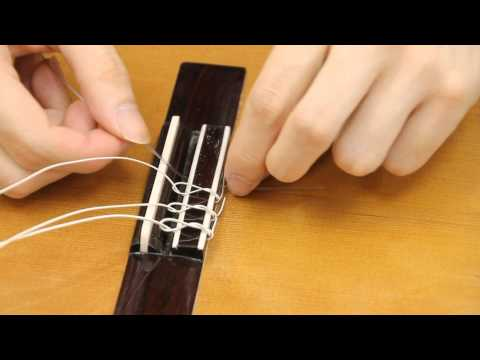 how to change your classical guitar strings youtube. Black Bedroom Furniture Sets. Home Design Ideas