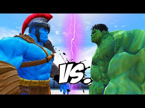 THE INCREDIBLE HULK VS BLUE HULK - EPIC SUPERHEROES WAR