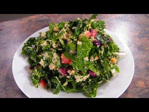 Warm Green Quinoa Salad Great  Vegetarian Recipe