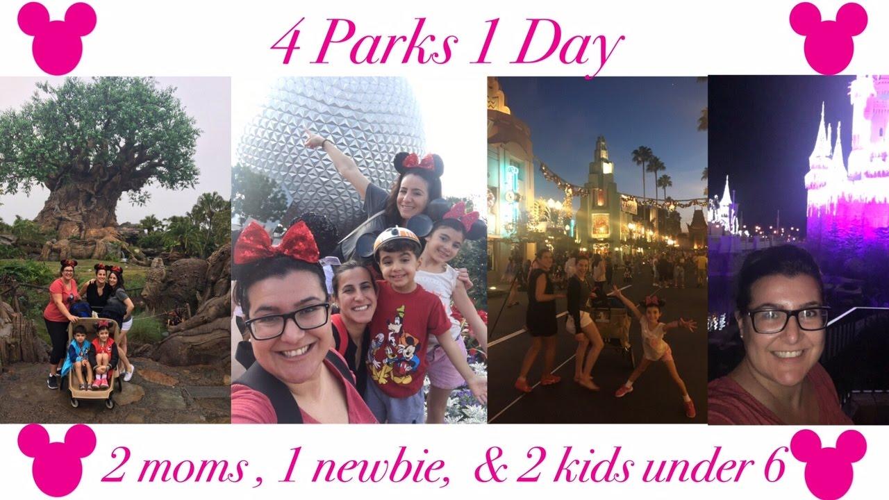 4 Walt Disney World Park in One Day!