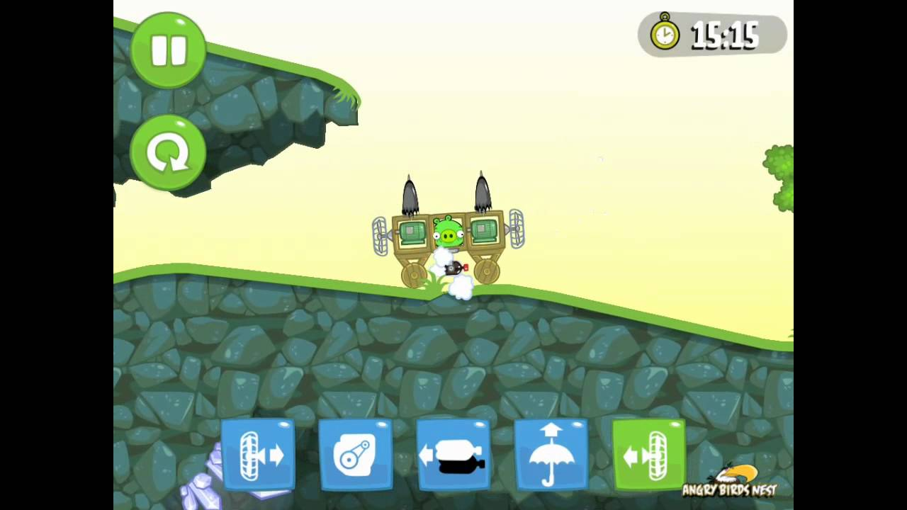 Bad 24 Bad Piggies Ground Hog Day 1 24 Walkthrough 3 Star