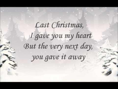 last christmas lyrics original artist