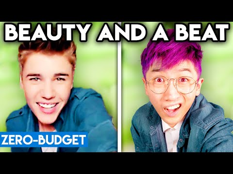 JUSTIN BIEBER WITH ZERO BUDGET! (Beauty and a Beat PARODY)