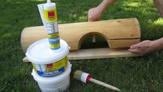 видео герметик для деревянного дома