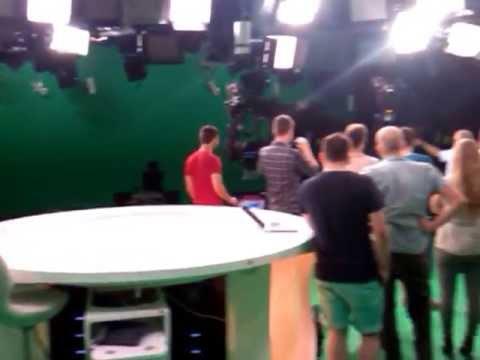 Greenscreen Studio von RTL Aktuell / Punkt 12 / Guten Morgen RTL / Explosiv / Exklusiv