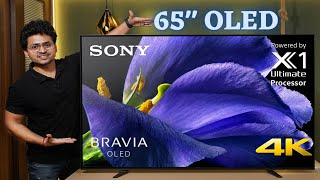 Massive 65 quot OLED 4K Android TV Sony A8H TV Unboxing amp Review