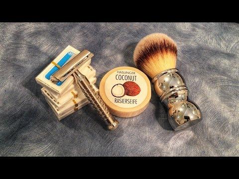 RazoRock Mamba + Chrome Silvertip Plissoft + Personna Platinum + Haslinger Coconut Soap