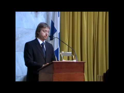 Dimitris A. Pollatos speech at the world Dialectical Symposium (2nd) in Athens Greece.mp4