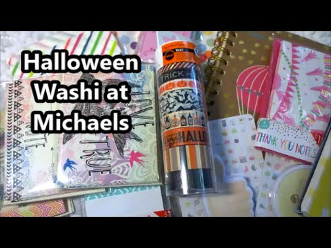 halloween washi at michaels and target dollar spot haul - Michaels Halloween