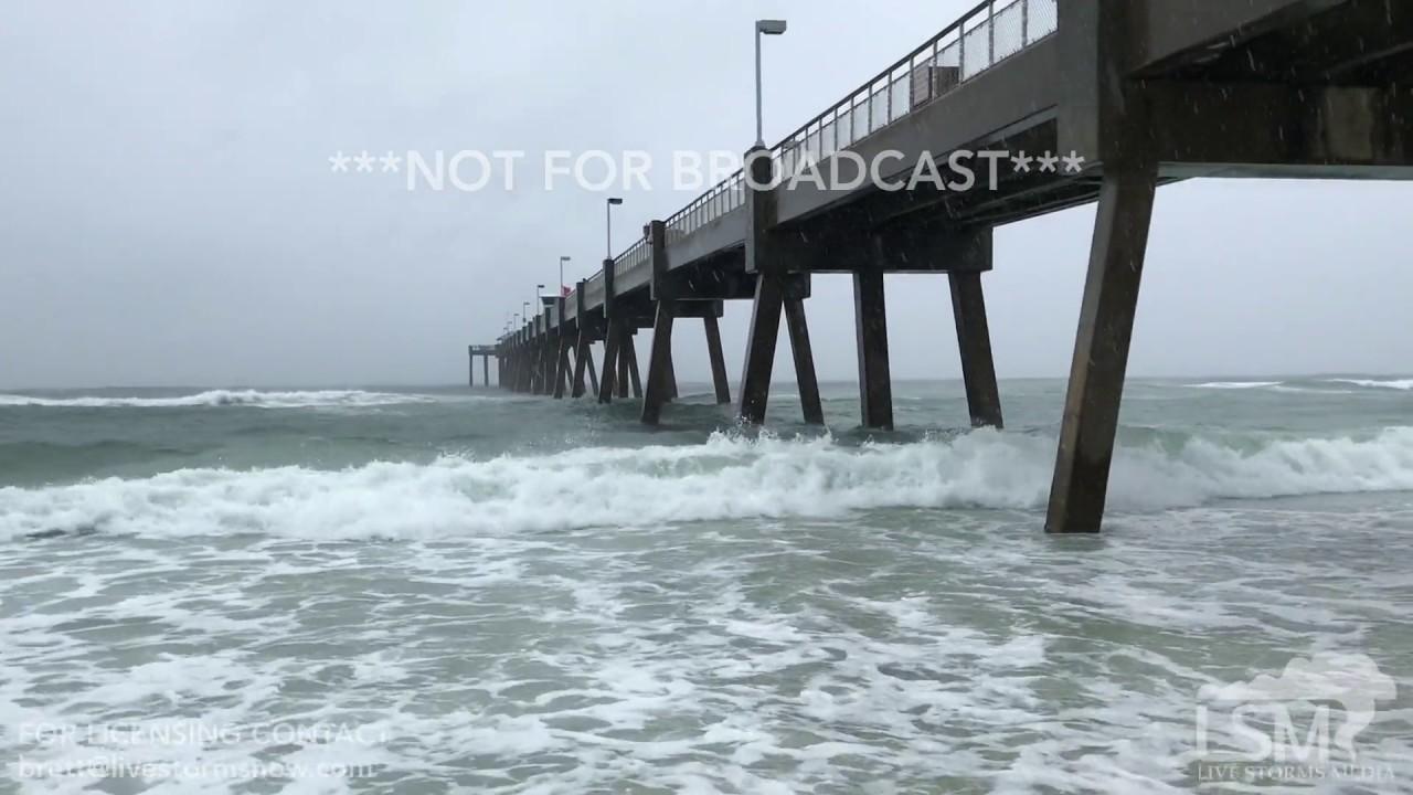 6 20 17 Fort Walton Beach Fl Okaloosa Island Tropical Storm Cindy Waves Erosion