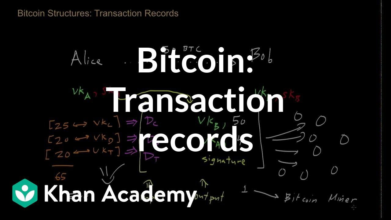 Bitcoin Transaction Records Video Khan Academy -