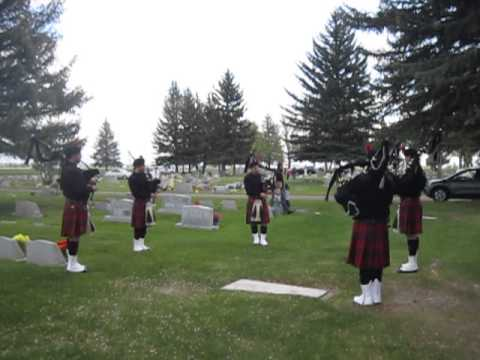 Memorial Day Bagpipes  Abide With Me