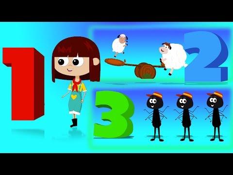 nomor lagu | Pendidikan Video | sajak anak-anak | Learn Numbers | Songs For Children | Number Song