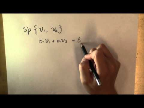 """What is the """"span"""" of a set of vectors?"""