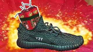 BLOWING UP MY BROTHERS YEEZY'S! 😂 *pranked*