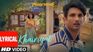 "Presenting the Lyrical video of the soulful song ""Khairiyat"" from the movie ""Chhichhore.""The song sung by Arijit, composed by Pritam will surely soothe your soul!"