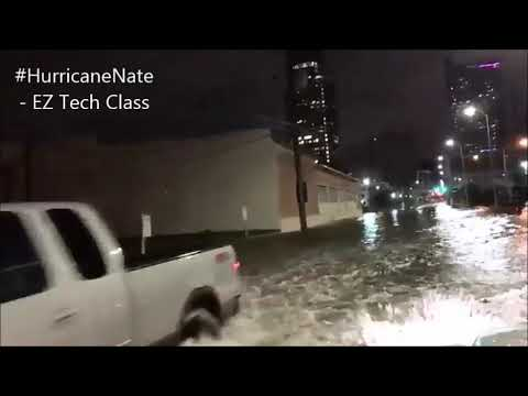 Flooding in Mobile, Alabama after Hurricane Nate rolled thru