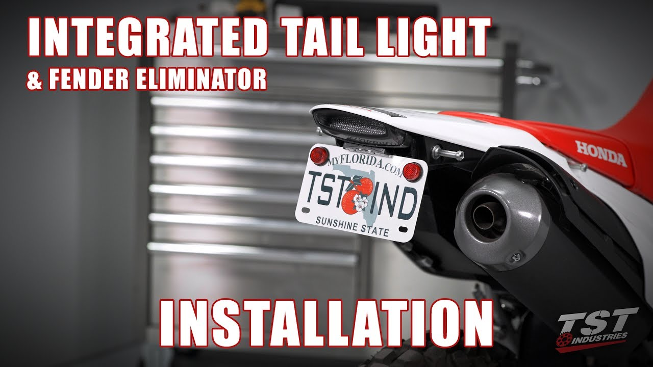 How To Install An Integrated Tail Light Fender Eliminator On A 12 Drc Moto Led Ez Electric Wire Kit Crfs Only Your Source For Honda 16 Crf250l