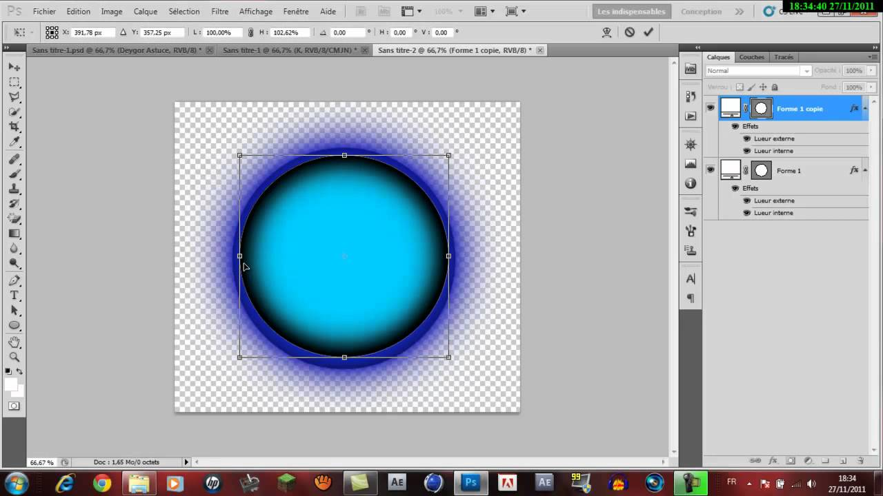 tuto creer un logo avec photoshop cs5