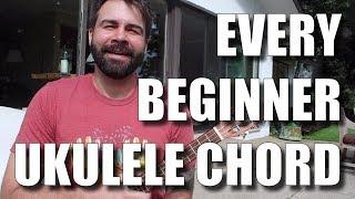 Every Easy Beginner Ukulele Chord - Ukulele Tutorial for True Beginners
