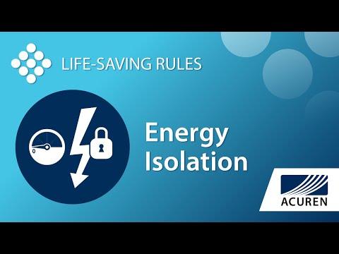 Life Saving Rules - Energy Isolation