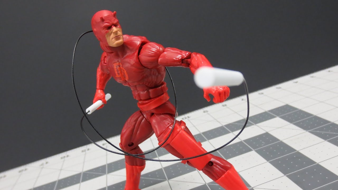 Marvel Legends Daredevil Custom Batons with Bendy wire 1//12 scale weapons