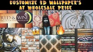 Customize 3D Wallpaper | Wallcoverings | Wall Decor items At Wholesale | Interior Ideas, 3D Wall Art