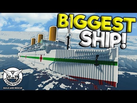BIGGEST SHIP VS TSUNAMI & NEW UPDATE! - Stormworks: Build And Rescue Gameplay - Sinking Survival