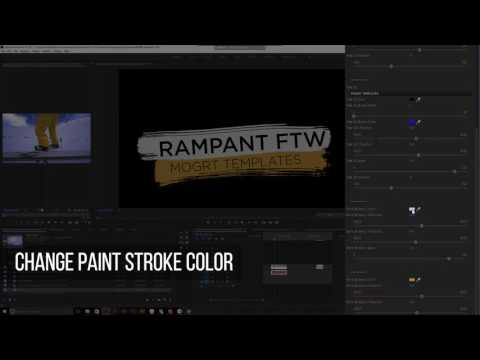 Rampant Action Titles 01 Essential Graphics Template for Premiere Pro