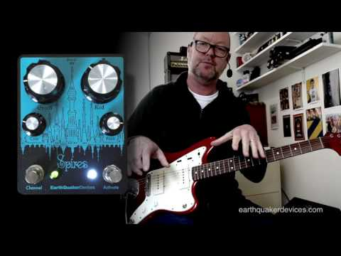 EarthQuaker Devices: SPIRES Dual Fuzz - Demo - Jazzmaster/SG to Vibrolux