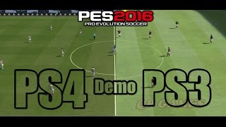 PES 2016 ps3 vs ps4 gameplay demo