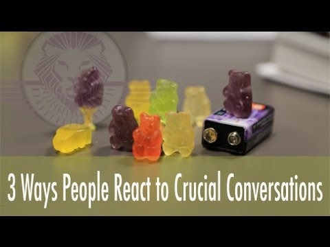 How People React to Crucial Conversations (Very Funny)