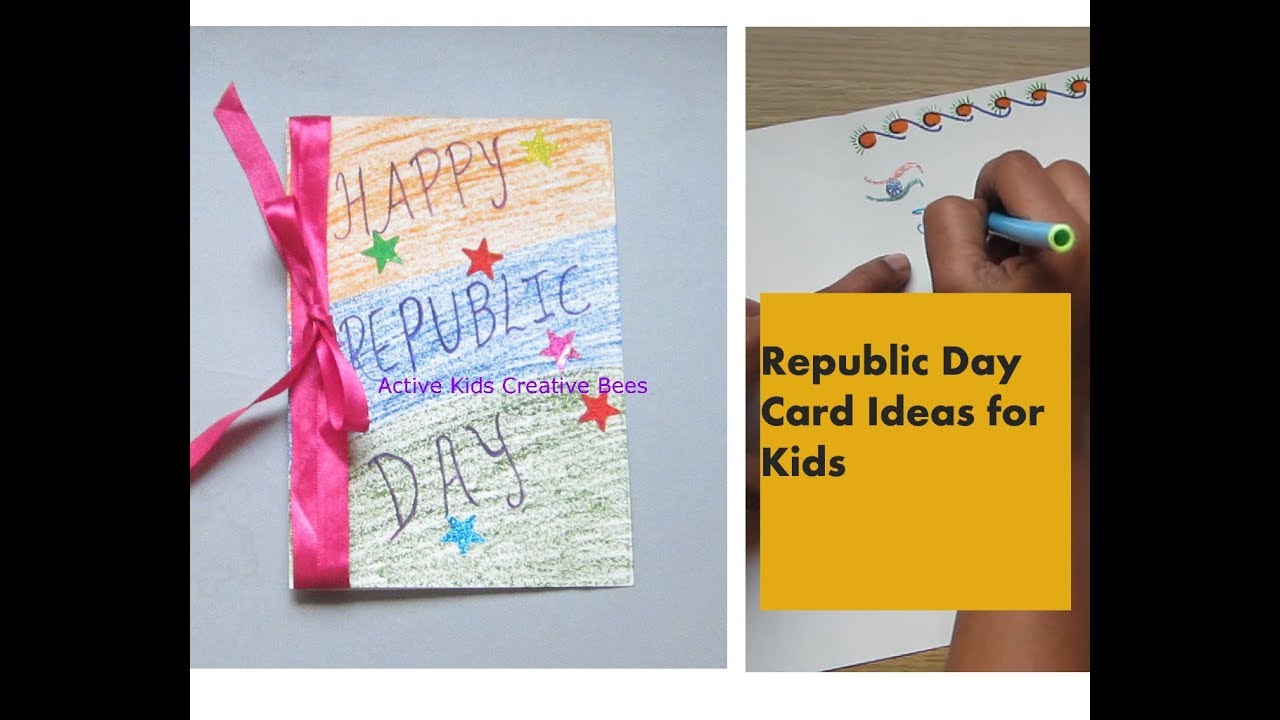 Card Making Ideas For Republic Day Part - 19: Republic Day Card Making | Tricolour Indian Flag Greeting Card | How To Make