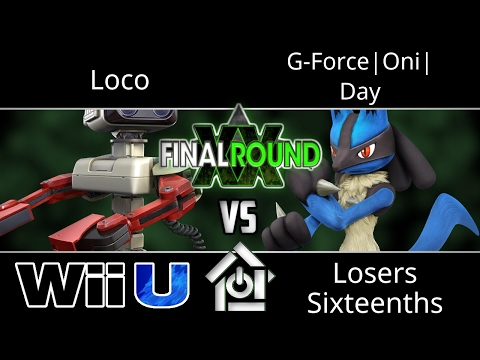 Final Round XX - Loco (ROB) vs G-Force|Oni| Day (Lucario) - Smash 4 Losers Sixteenths