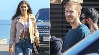Calvin Harris And His Red Hot Model Girlfriend Aarika Wolf Grow Closer In Malibu