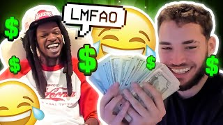 Julio Foolio Teaches Adin Ross how to Flex Money... 😂🤑