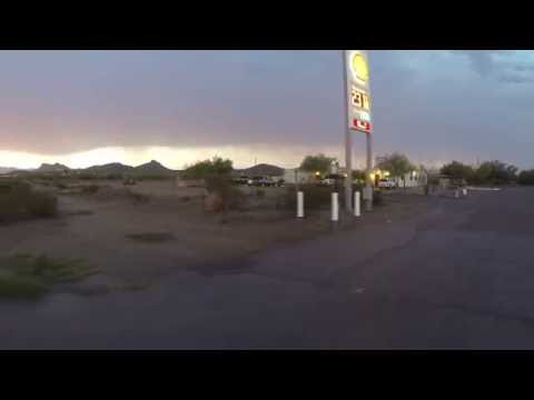 US Border Patrol at Shell Gas Station, Sells, Arizona Indian