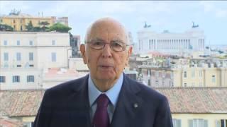 Videomessaggio del Presidente Napolitano in occasione della Festa della Repubblica