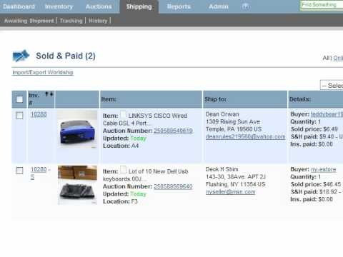 Ebay Auction Management Software For Consignment And Retail Youtube
