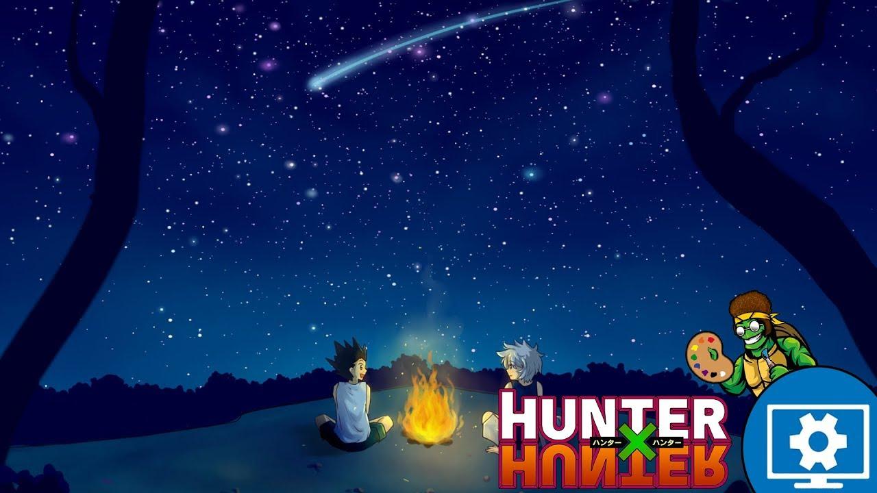 Wallpaper Engine Casual Campfire Gon Killua Hunter X Hunter