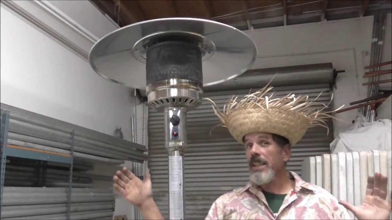 How To Light A Patio Heater.   YouTube
