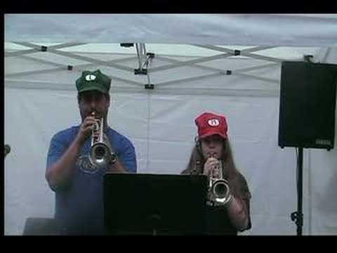 Super Mario Bros Theme - Two Trumpets