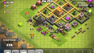 Clash of clans: Battle scene