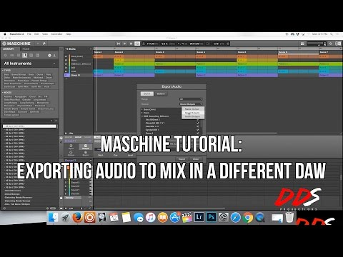 MASCHINE Tutorial: How to Export Files For Mixing In A Different DAW