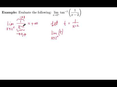 Limit of a Transcendental Function by Substitution - MAC 2311 - Special Limits and Continuity ex 1