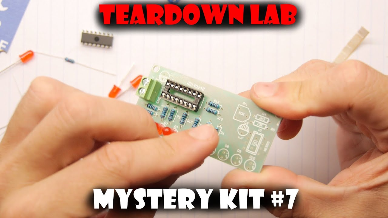 Tdl Mystery Kit From China 7 Led Chasers Youtube Electronic Circuits For Beginners Chaser Premium